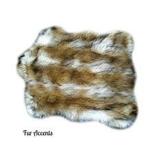 Premium Faux Fur Chubby Bear Skin Pelt Rug Pet Bed Mat Shag Sheepskin Carpet