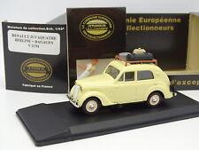 Eligor CEC 1/43 - Renault Juvaquatre Berline + bagages + Figurine