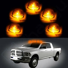 Smoke Cab Marker Clearance Lights Cover +168 Warm White Power LED Bulb for Ford