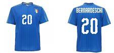 Camiseta bernardeschi Italia Oficial Nacional Azul Figc Producto Oficial