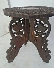Vintage Wooden Hand Carving Center/ Side Folding Decorative Table beautiful work