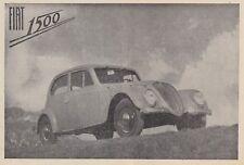 Z7043 Automobile FIAT 1500 - Pubblicità d'epoca - 1939 vintage advertising