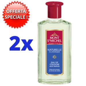 2  x ACQUA DI COLONIA NATURELLE CLASSIQUE MONT ST MICHEL 250 ML OFFERTA SPECIALE