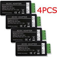 4PCS AC 24V To DC 12V Power Converter Reducer Adapter For CCTV Security Camera