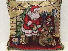 Kissenhülle,ca.40cmx40cm,quadratisch,mit Reißverschluß,Gobeline,Weihnachtsmann