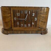 Orologio da tavolo art deco in palissandro misure 42x21x16 cm