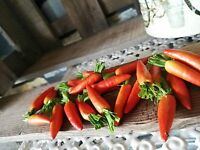 24 x Möhren Karotten Deko 4 cm Obst Attrappen Dekoration Gemüse Kunstgemüse