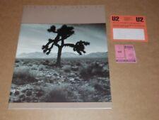 "U2 ""Joshua Tree"" 1987 UK Tour Programme + Ticket stub + Fan Club Membership Card"