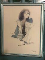 Vintage Rosamond print Summer Mood 1970's large size 25 x 30 framed