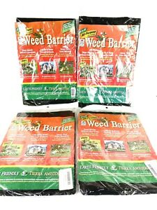 4 Weed Barrier All Purpose 4'x8' Landscape Plant Fabric Underliner Control Block