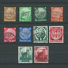3rd REICH - 1934 YT 503 à 512 - TIMBRES OBL. / USED
