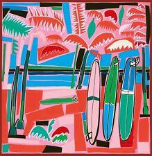 HERMES PARIS Womens 100% SILK 90x90 cm SCARF 'SEA, SURF & FUN' in ROSE - BNWT
