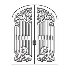 "Penny Black Metal Die Set-Gothic Gate 2.75""x3.5"" Wrought Iron Door Window 51-146"