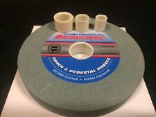 """6"""" x 3/4"""" x 1"""" German Eng. 100 grit Green Silicon Bench Tungsten Grinding Wheel"""
