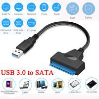 "USB 3.0 zu SATA Adapter Konverter Kabel für 2,5"" SATA Externe HDD SSD Festplatte"