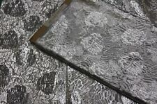 "1.5 Yards SILVER METALLIC Fabric-45"" Wide-Tissue Taffeta-60% Metallic 40%Nylon"