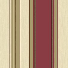 Crown Vymura Synergy Striped Wallpaper Rich Red, Cream, Gold (M0803)