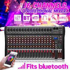16 Channels Live Studio Audio Mixer Sound USB Mixing Console bluetooth DJ Stage