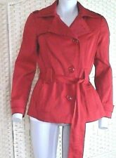 Debenhams Petite Collection RED Military Style Coat / Jacket Fully Lined  UK 12