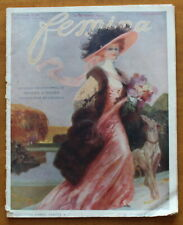 1908 ✤ FEMINA ✤ Mode Hiver ✤ Belle double page couleur