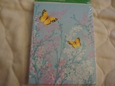 8 Blank Notes = Butterflies and Flowers