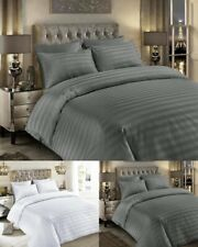 Satin Stripes 100% Egyptian Cotton 400 Thread Count Duvet Covers /Fitted Sheets
