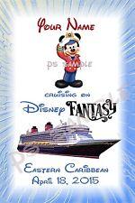 4x6 CUSTOM Disney Cruise Door Magnet - CRUISING ON... DREAM/FANTASY/MAGIC/WONDER