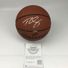 Autographed/Signed BEN SIMMONS 76ers Spalding Basketball Upper Deck UDA COA Auto