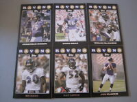 Y) Lot of 325 BALTIMORE RAVENS Football 2008 Topps BLACK RARE!! Cards FLACCO RC