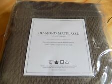 "Restoration Hardware Diamond Matelasse Sable Brown Cotton Shower Curtain 72""X72"""