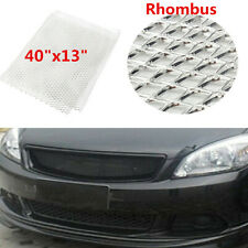 "Silver Rhombus Aluminium Car Vehicle Racing Front Bumper Grille Mesh Net 40""x13"""