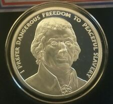 Thomas Jefferson 1 oz .999 silver shield President 2nd amendment Freedom Rare