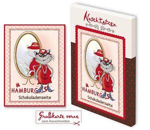 Glückwunschkarte Hamburgs Schokoladenseite 70gr Vollmilchschokolade Kunstkarte