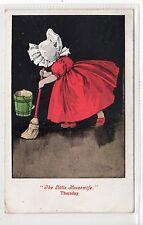 """THE LITTLE HOUSEWIFE"" THURSDAY: Sunbonnet postcard (C20766)"