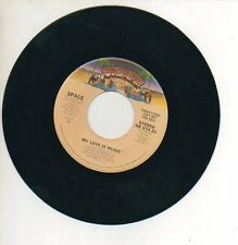 SPACE 45 RPM Promo Record MY LOVE IS MUSIC Funk DISCO DIDIER MAROUANI MINT!