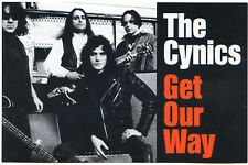 CYNICS, The (band) Get Our Way 1994 Get Hip vintage promo POSTCARD