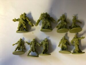 ZOMBIE ORC HORDE - 9 DIFFERENT ORCS - ZOMBICIDE GREEN COOL MINI OR NOT