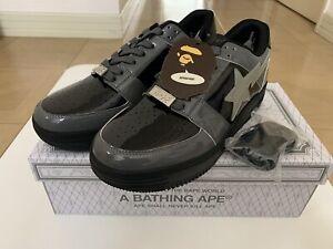 AUTHENTIC A BATHING APE BAPE BAPESTA LOW BAPE STA BLACK US 10 NEW SNEAKERS