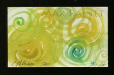 Listed Artist = C PETERSON = ACEO ART PAINTING =Watercolor ABSTRACT Swirls No 06