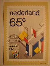 "(NL3194) ART PAINTING ""DE STIJL"" 1983 NETHERLANDS maximum maxi card postcard"