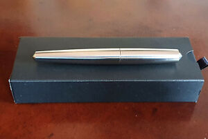 Namisu Nova Machined Titanium Fountain Pen, EF Titanium Bock Nib