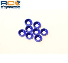 Hot Racing Blue Aluminum 3mm Countersunk Washer (8) CW36806