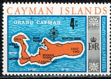 British Cayman Islands Grand Cayman Map stamp 1980 MNH