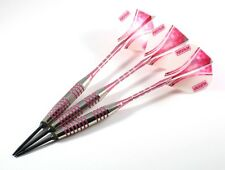 PINK PASSION - 22 Gr Steel Darts W Balancepoint ACE Moveable Points RINGED GRIP