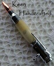 dp - Keen Handcrafted Handmade Acrylic Mini 30 Caliber Bolt Action Chrome Pen