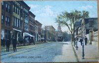 Derby, CT 1911 Postcard: Elizabeth Street/Downtown - Connecticut Conn