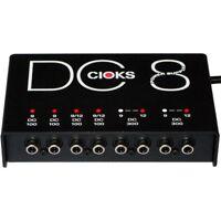 Cioks DC8 Multi-Output Guitar Effects Pedal 9V 12V 18V Power Supply w/ Cables