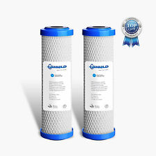 2 x 0.5 Micron Coconut Carbon Block Water Filter Replacement Cartridges 10 x 2.5