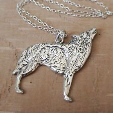 Wolf Pendant Necklace - 925 Sterling Silver - Werewolf Dog Howl Halloween NEW