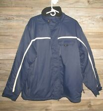 Tommy Hilfiger Navy Blue Mens Nylon Sailing Jacket Size Large Fleece Lined